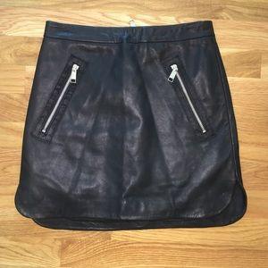 Black Mini Leather Skirt
